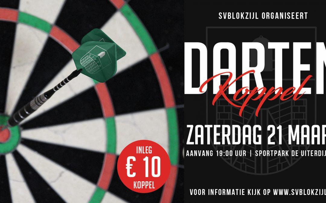 Flyer en Sociale Media voor darttoernooi SV Blokzijl